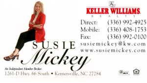 Susie Mickey, Keller Williams Realty, www.SusieMickey.com